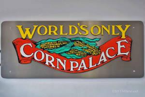 The Corn Palace sign inside