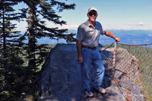 Fred at the top of Larch Mountain