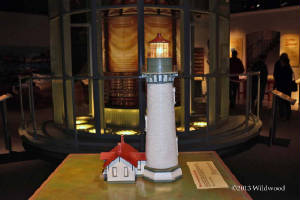 Lighthouse replica in the museum