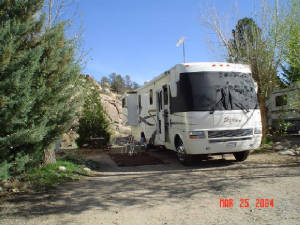 Our Motor Home at the Point of Rocks
